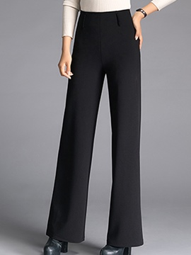 Ericdress Plain Color High-Waist Loose Wide Legs Pants