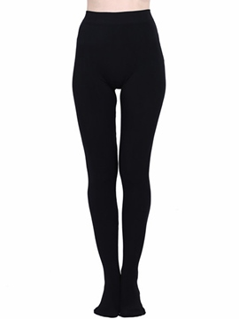 Ericdress Plain Color High-Waist Leggings Pants