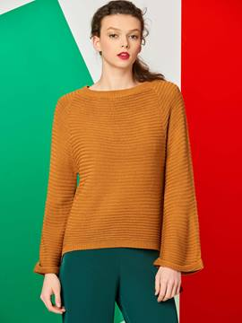 Ericdress Casual Loose Solid Color Knitwear
