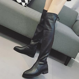 Ericdress Vintage PU Round Toe Knee High Boots