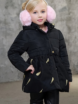 Ericdress Chic Feather Designed Girl's Quilted Jacket