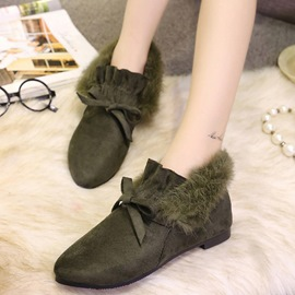 Ericdress Lovely Bowtie Point Toe Ankle Boots