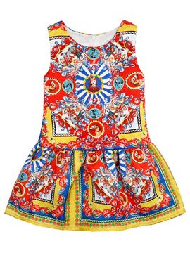 Ericdress Print Ethnic Sleeveless Girls Dress