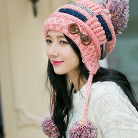 Ericdress Buttons Decorated Warm Knitted Cap