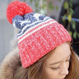 Ericdress Five-Pointed Stars Embellished Knitted Hat