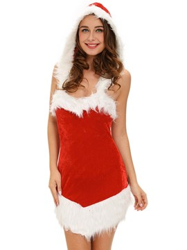 Ericdress Sexy Fur-Decorated Backless Santa Cosplay Christmas Costume