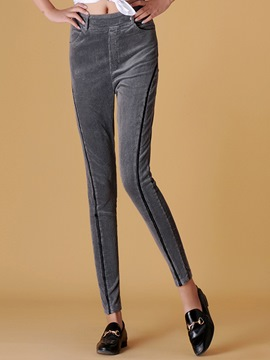 Ericdress Stripe High-Waist Slim Pencil Pants
