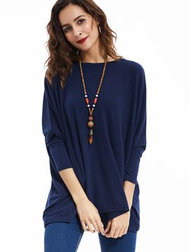 Ericdress Casual Loose Round Neck Knitwear