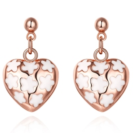 Ericdress Rose Gold Sweetheart Earrings