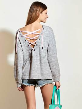 Ericdress Cross Strap Back Loose T-Shirt