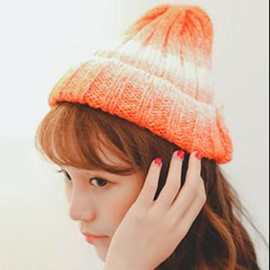 Ericdress Candy Color Rolled Brim Knitted Hat
