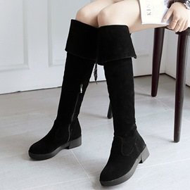Ericdress OL Suede Thigh High Boots