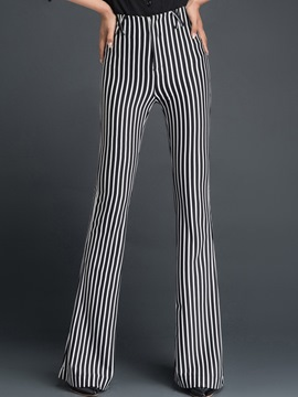 Ericdress Stripe High-Waist Skinny Pants