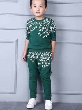 Ericdress Birds Print Casual Boys Outfit