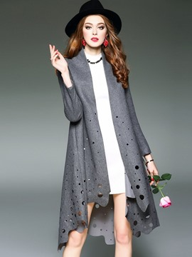 Ericdress European Loose Hollow Coat