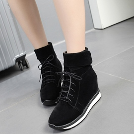 Ericdress Suede Sport Lace up Ankle Boots