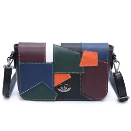 Ericdress Trendy Colorful Patchwork Shoulder Bag