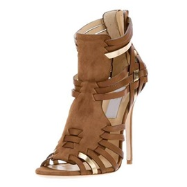 Ericdress Apecial Brown Braided Heel Sandals