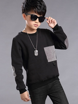 Ericdress Color Block Pocket Boys T-Shirt