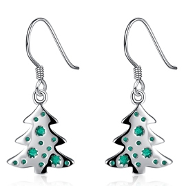 Ericdress Alloy Christmas Tree Pendant Earrings