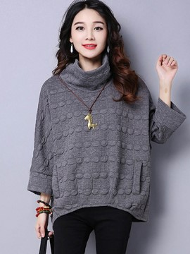 Ericdress Loose Stand Collar Casual Hoodie