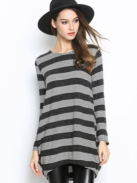 Ericdress Stripe Loose Casual Knitwear