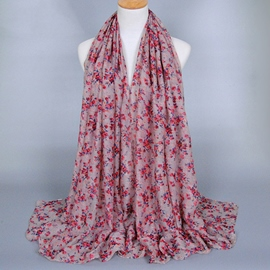 Ericdress Chinese Style Floral Design Voile Scarf