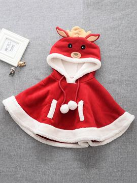Ericdress Cute Deer-Like Christmas Girls Cape Coat