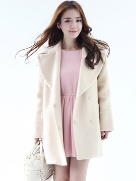 Ericdress Loose Turn-Down Casual Coat
