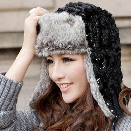 Ericdress Sequins Embellished Warm Bomber Hat