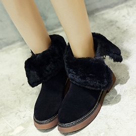 Ericdress Korean Suede Round Toe Snow Boots