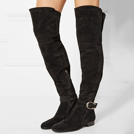 Ericdress Round Toe Square Heel Over-the-Knee Boots