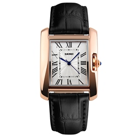Ericdress Black Band Rectangle Dial Design Women's Watch