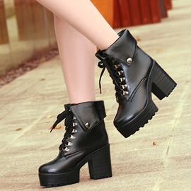 Ericdress Stylish PU Platform Ankle Boots