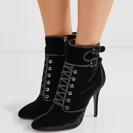 Ericdress Stiletto Heel Side Zipper Ankle Boots