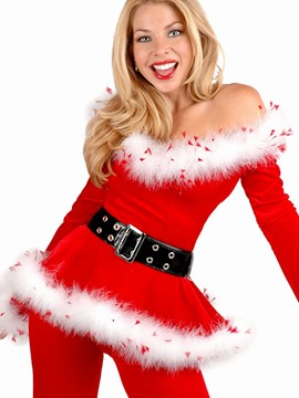 Ericdress Long Sleeve V-Neck Belt-Decorated Christmas Costume