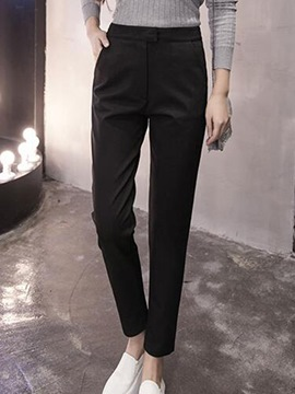 Ericdress Solid Color Thick Loose Harem Pants