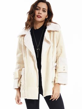Ericdress Casual Lapel Side Zipper Coat