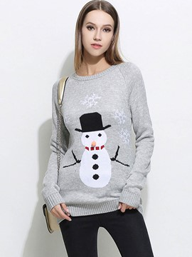 Ericdress Loose Christmas Printed Casual Knitwear