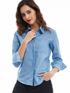 Ericdress European Lapel Single-Breasted Blouse