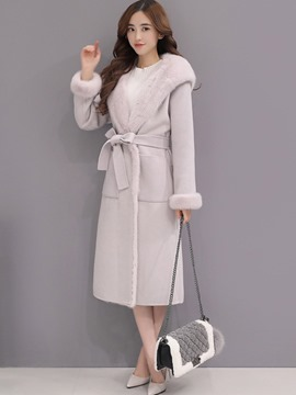 Ericdress Slim Fleece Women Coat