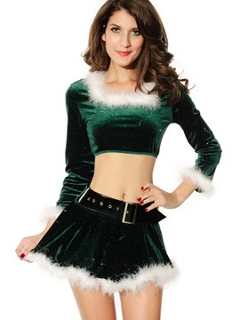 Ericdress Fancy Square Neck Long Sleeve Christmas Costume