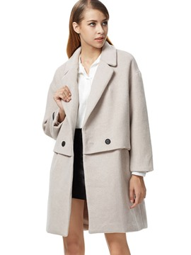Ericdress European Loose Polo Coat