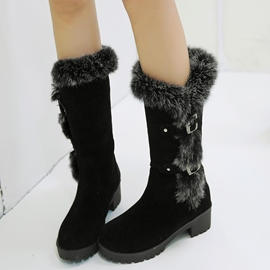 Ericdress Lovely Suede Round Toe Snow Boots