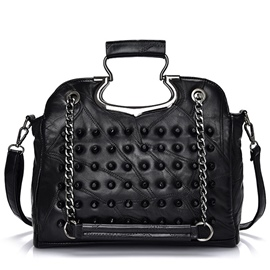 Ericdress Leisure Rivets Decorated Handbag