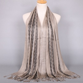 Ericdress Golden Thread Decorated Tassels Scarf