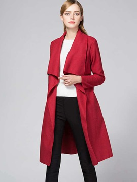 Ericdress Casual Loose Turn-Down Trench Coat