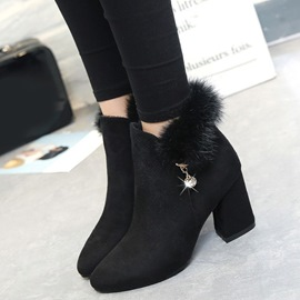 Ericdress Suede Point Toe Martin Boots