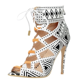 Unique Hollow-outs Peep-toe Stiletto Sandals