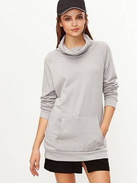 Ericdress Casual Loose Turtleneck Plain T-Shirt